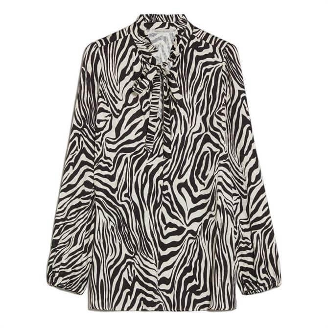 Pennyblack Jacquard Zebra Print Blouse