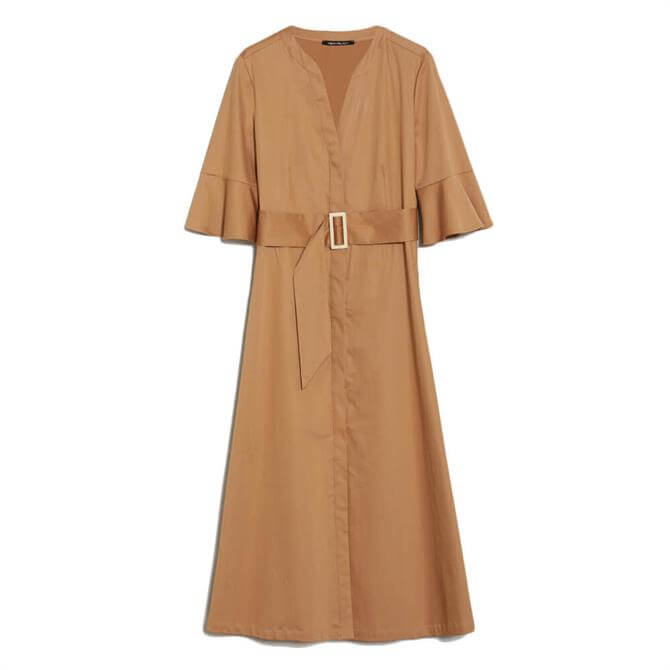 Pennyblack Arachide Cotton Satin Shirt Dress