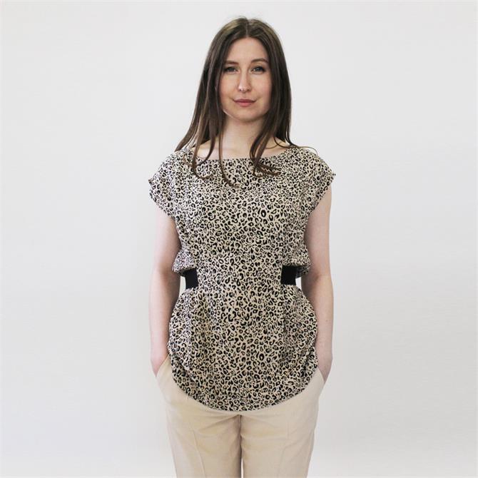 Pennyblack Elios Leopard Print Top