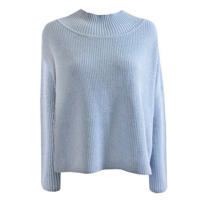 Pennyblack Parado Sky Blue High Neck Sweater