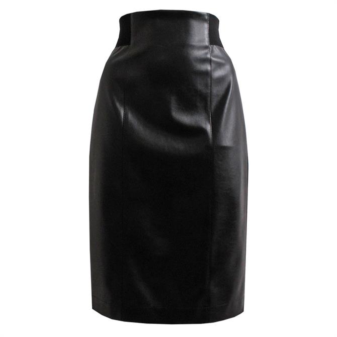 Pennyblack Crusca Coated Leather Look Pencil Skirt