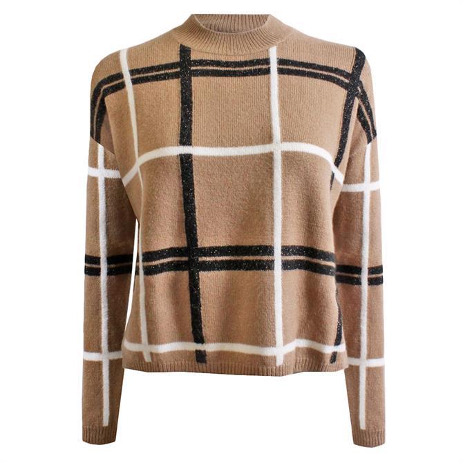 Pennyblack Ornare Geometric Intarsia Check Sweater