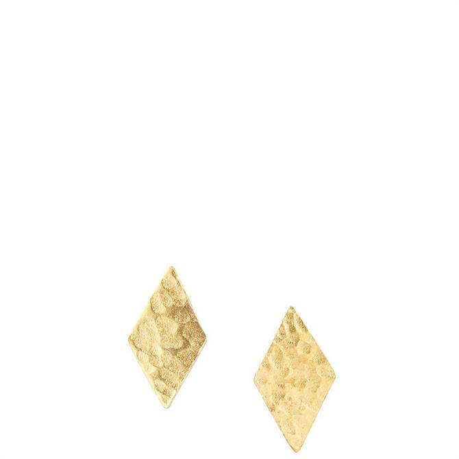 People Tree Diamond Shaped Brass Stud Earrings