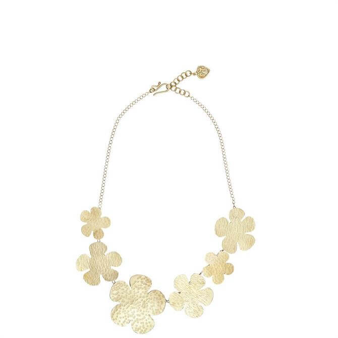 People Tree Brass Daisy Necklace