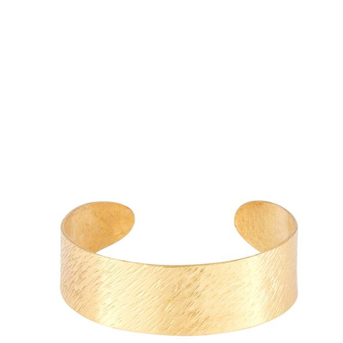 People Tree Brass Brushed Cuff