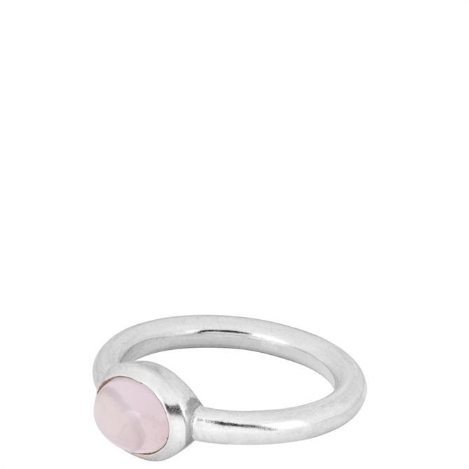 People Tree Rose Quartz Oval Ring