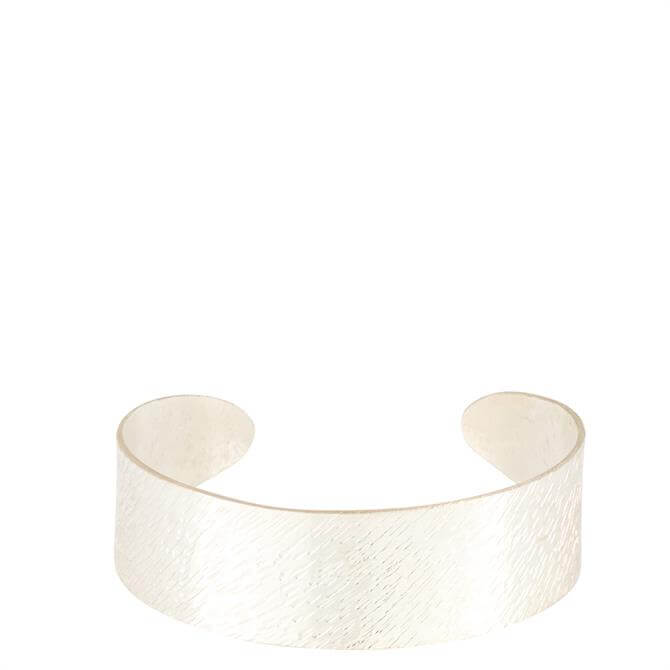 People Tree Silver Brushed Cuff