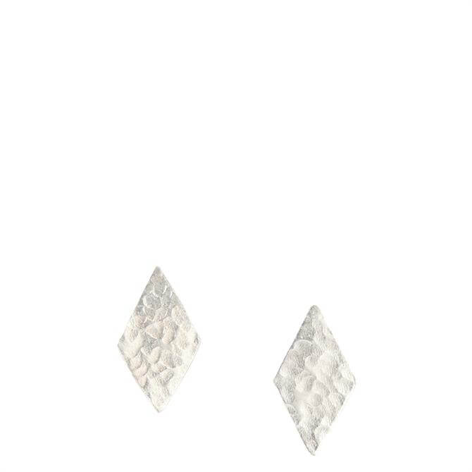 People Tree Diamond Shaped Silver Stud Earrings