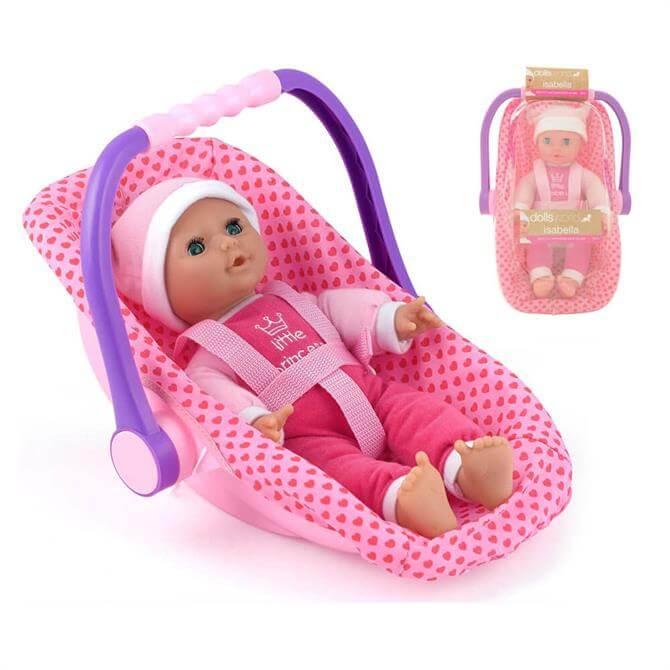 Peterkin Dollsworld Isabella with Car Seat 8550
