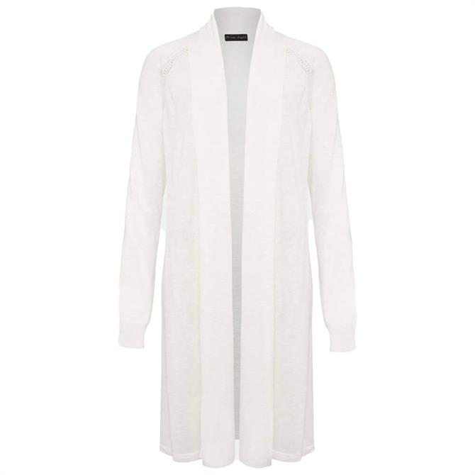 Phase Eight Broderie Longline Linen Cardigan