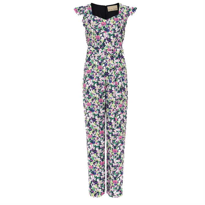 Phase Eight Arya Floral Frill Jumpsuit