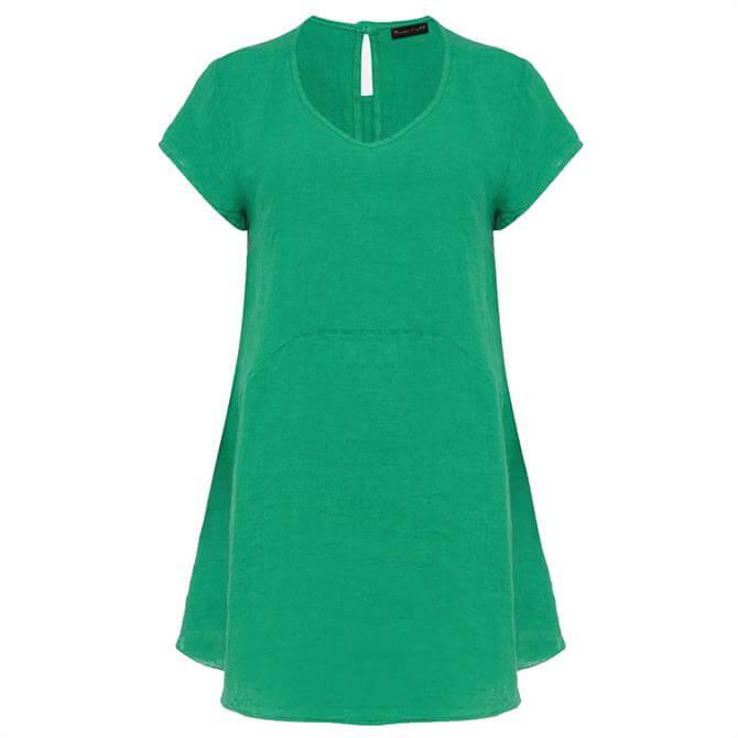 Phase Eight Avanna Linen Blouse Green