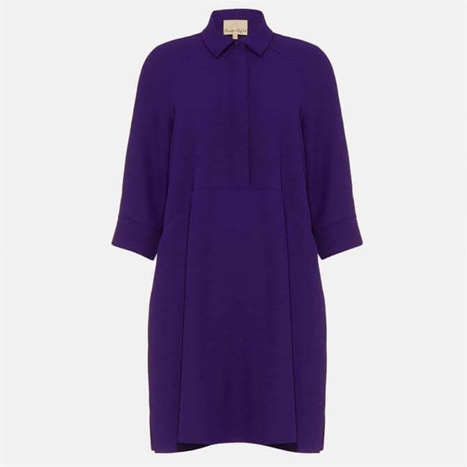 Phase Eight Bella Shirt Dress Violet
