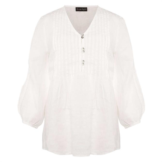 Phase Eight Brianne Linen Pintuck Blouse