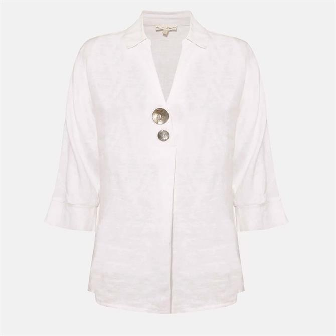 Phase Eight Brogan Linen Shirt White