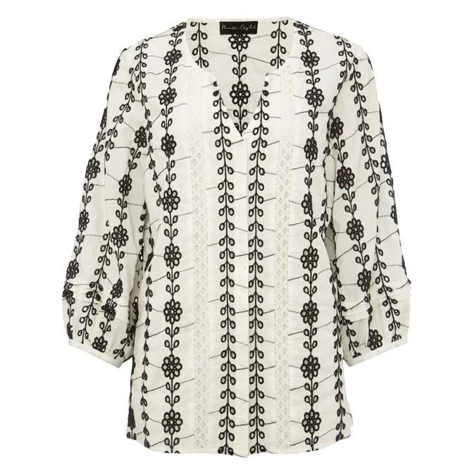 Phase Eight Caela Broderie Blouse
