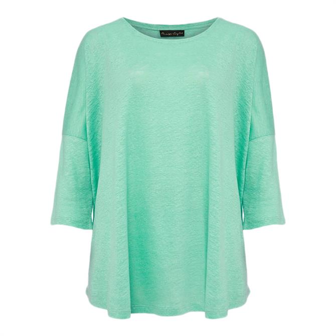 Phase Eight Catrina Linen Top – Apple Green