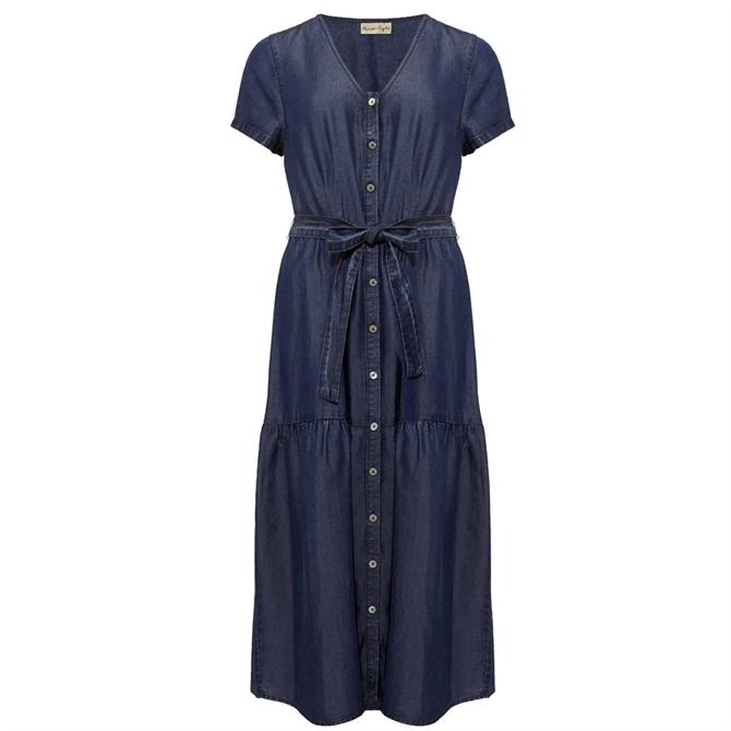 Phase Eight Celia Chambray Denim Dress