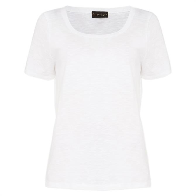 Phase Eight Elspeth Scoop Neck Top - White