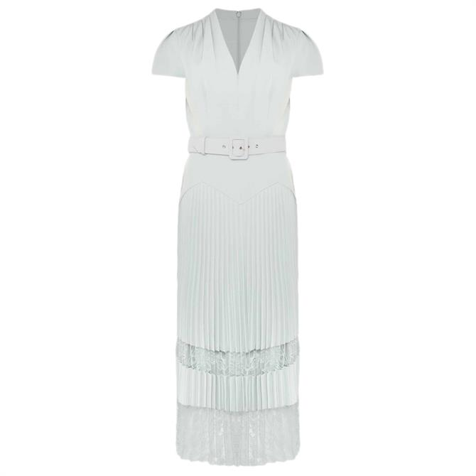 Phase Eight Hannah Pleated Lace Insert Dress