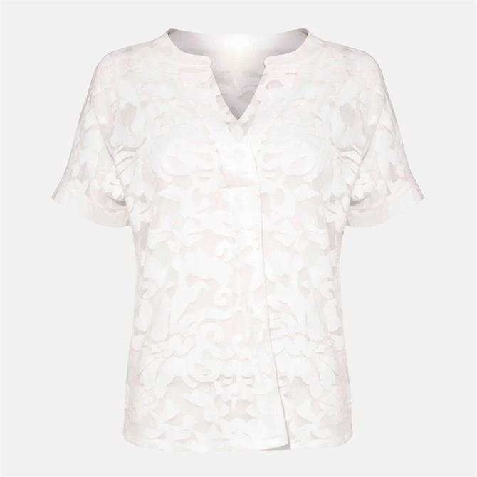 Phase Eight Lesley Lace Top Ivory