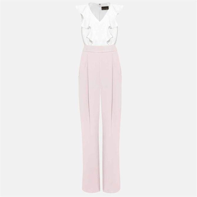 Phase Eight Linda Frill Two-Tone Jumpsuit