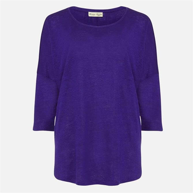 Phase Eight Linen Catrina Top Purple