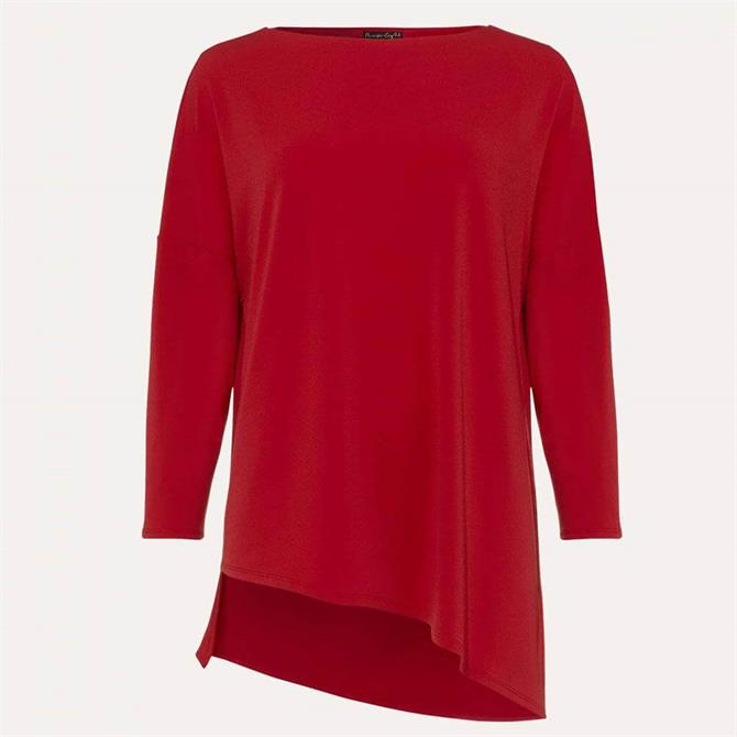 Phase Eight Lucetta Longline Asymmetric Top Red