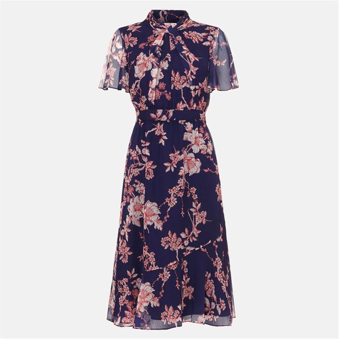 Phase Eight Maya Printed Dress Lapis