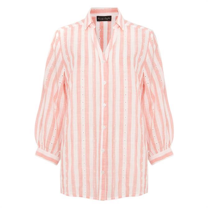 Phase Eight Nanette Stripe Broderie Shirt