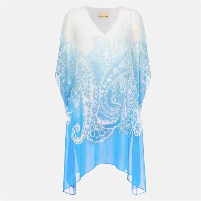 Phase Eight Neema Paisley Dress Blue