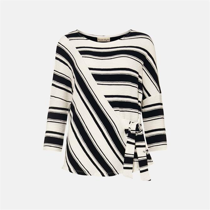 Phase Eight Fynlee Tie Side Textured Stripe Top