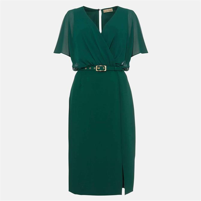 Phase Eight Alba Belted Cactus Green Dress