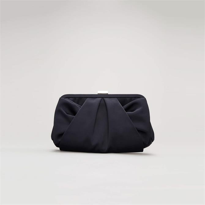 Phase Eight Alice Satin Navy Clutch Bag