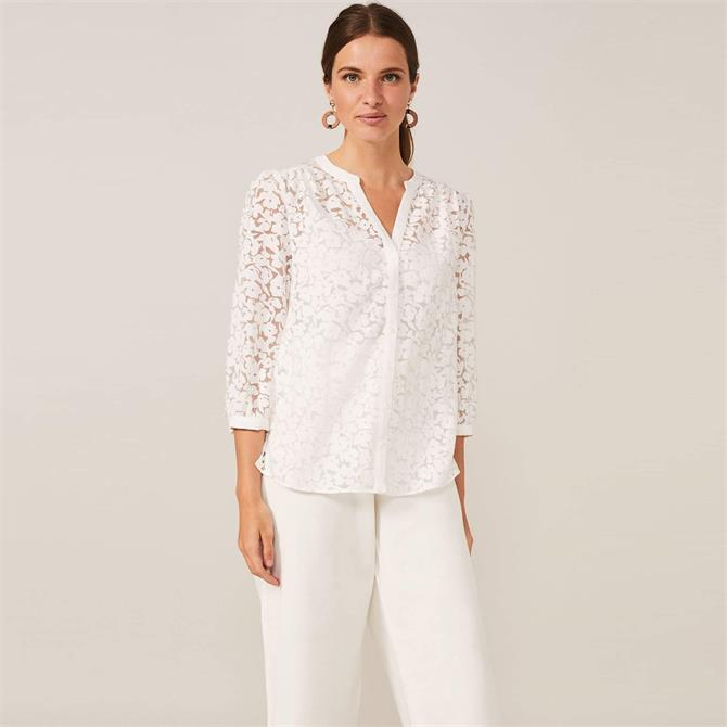 Phase Eight Burnout Floral Blouse
