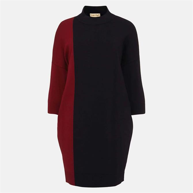 Phase Eight Cadi Colourblock Rust & Navy Jumper Dress
