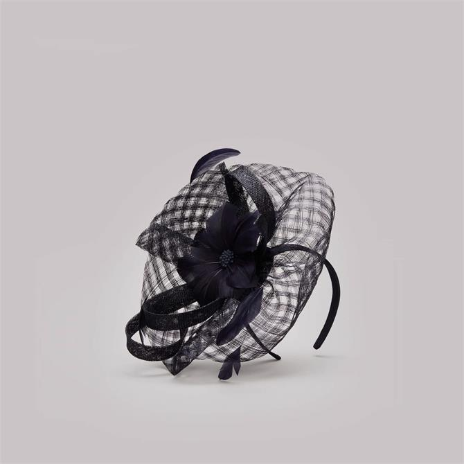 Phase Eight Danna Flower Disc Navy Fascinator