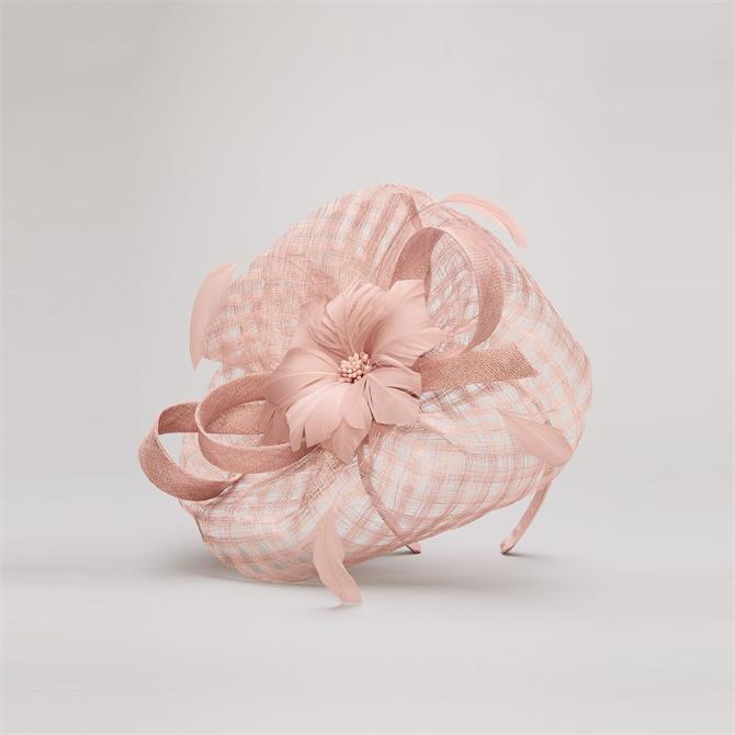 Phase Eight Danna Flower Disc Antique Rose Fascinator