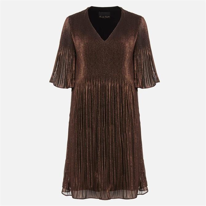 Phase Eight Ella Metallic Bronze Dress