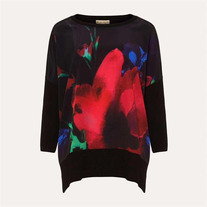 Phase Eight Flora Floral Woven Print Knit Top