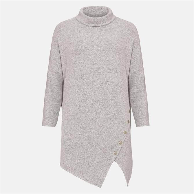 Phase Eight Gala Grey Asymmetric Snuggle Knitted Top