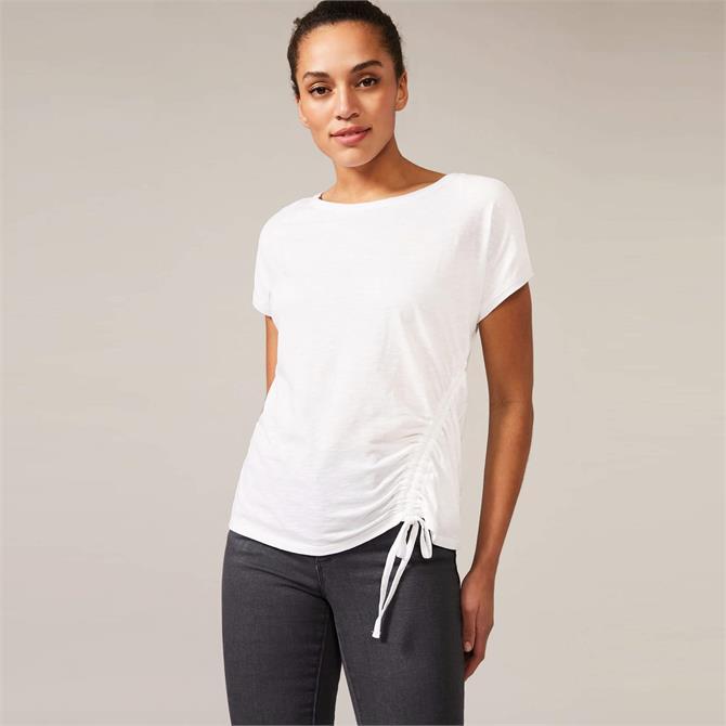 Phase Eight Jinny Drawstring White T-Shirt