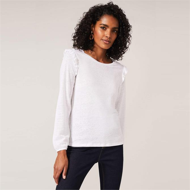 Phase Eight Linen Frill Detail Top