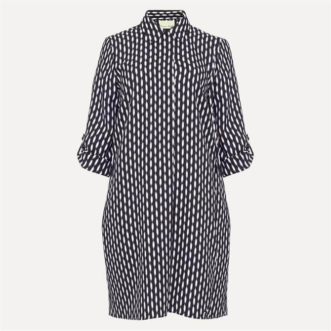 Phase Eight Ikat Print Collar Dress