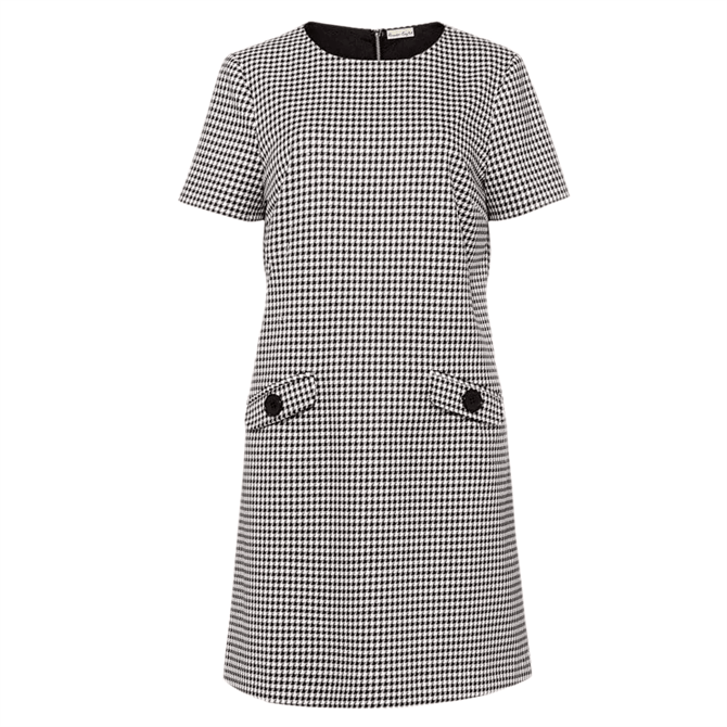 Phase Eight Ridley Dogtooth Dress Black