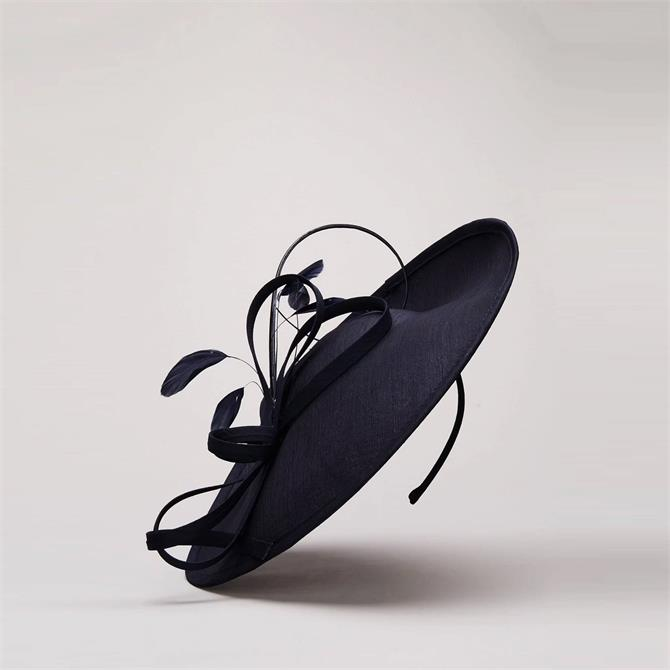 Phase Eight Sherby Twist Disc Navy Fascinator