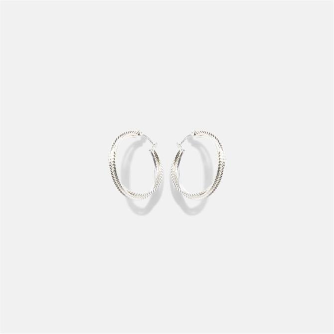 Phase Eight Heidi Silver Hoop Earrings