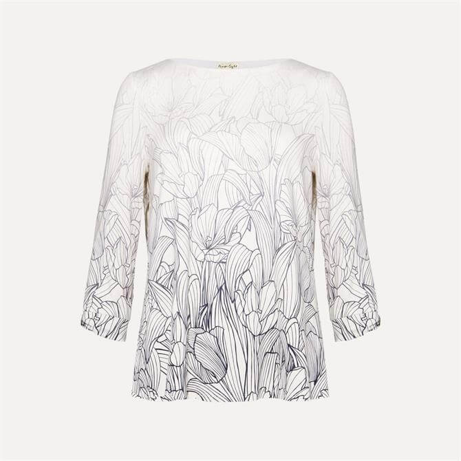 Phase Eight Sorcha Floral Ombre Print Top