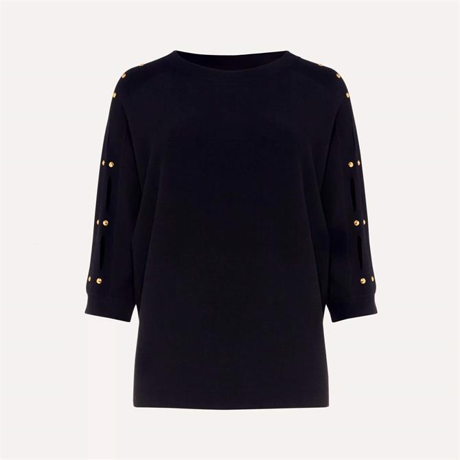 Phase Eight Sylvia Cutwork Sleeve Jumper