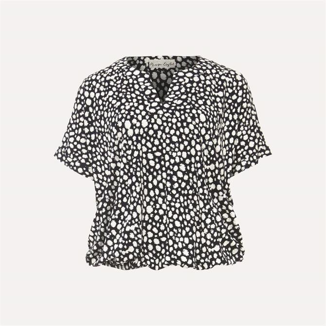 Phase Eight Zakiyah Spot Bubblehem Top